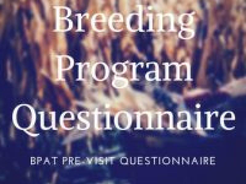 BPAT - pre-visit questionnaire for breeding program