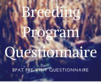 BPAT – pre-visit questionnaire for breeding program